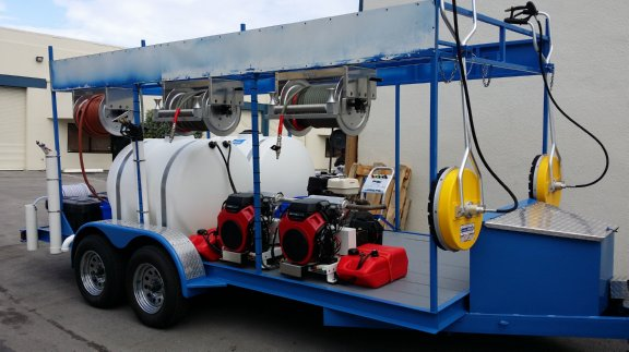 Custom Built Trailers For Pro Power Washing